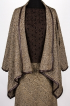 Manuel Mendoza Vancouver Bespoke Tweed Leather Shawl